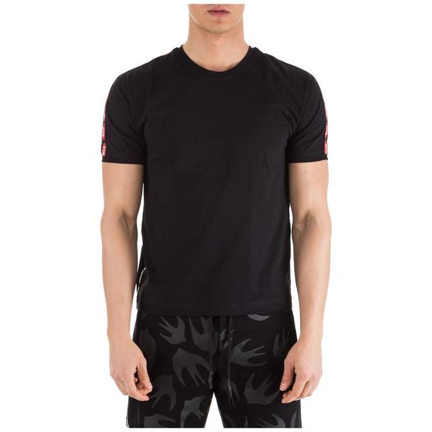 McQ Alexander McQueen Men's Short Sleeve T-shirt Crew Neckline Jumper in nero