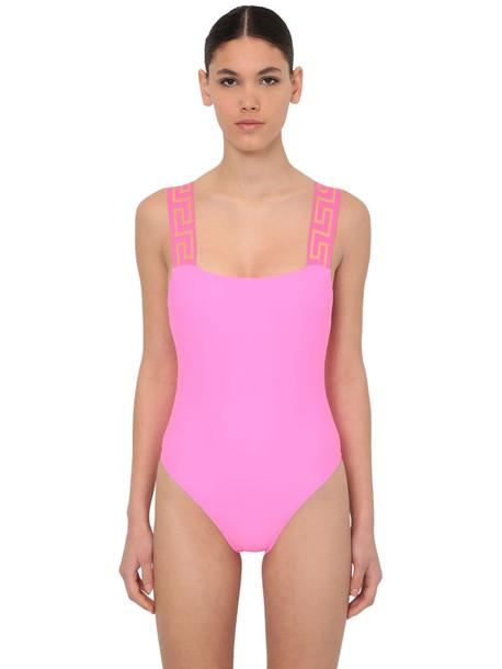 VERSACE One Piece Lycra Swimsuit in fuchsia