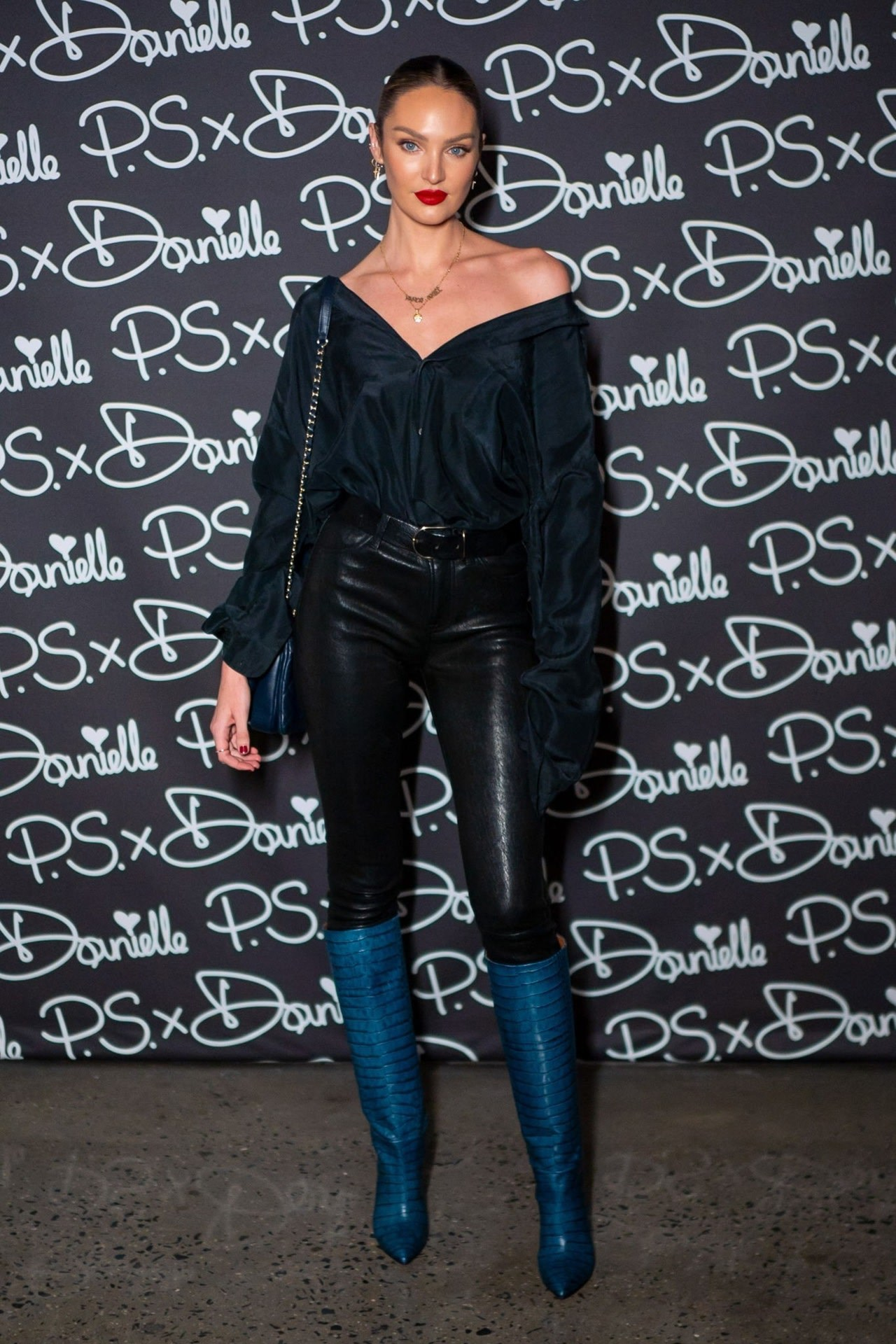 shoes black pants top boots candice swanepoel model off-duty
