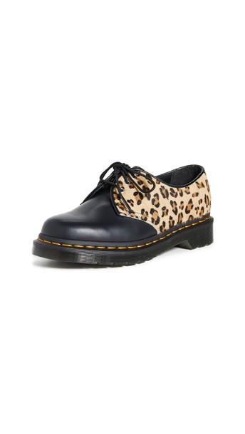 Dr. Martens 1461 3 Eye Shoe in black / leopard