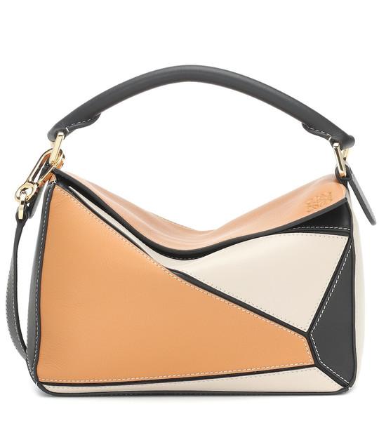 Loewe Puzzle leather shoulder bag in brown