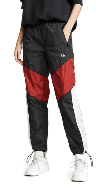 Alexander Wang Winbreaker Track Pants with Elastic Waistband in black / red / white
