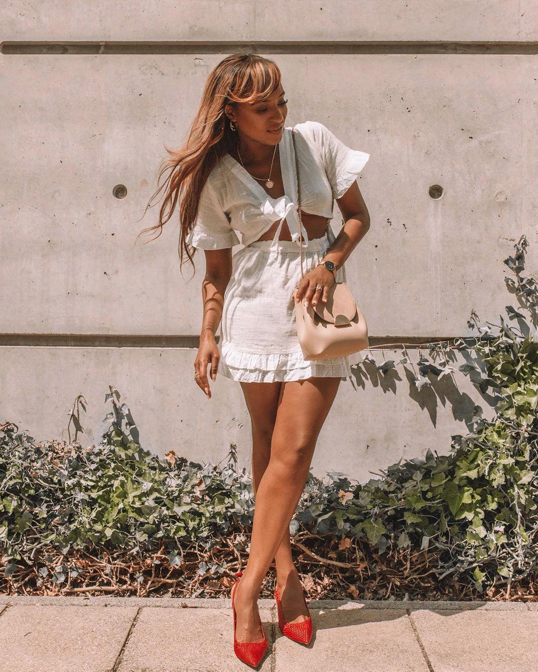 dress mini dress white dress short sleeve dress summer dress slingbacks crossbody bag