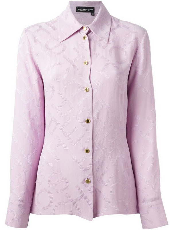 Jean Louis Scherrer Pre-Owned jacquard shirt in pink