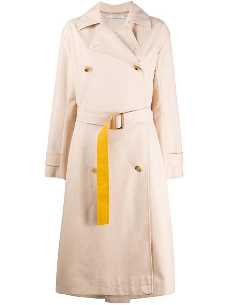 Nina Ricci colour block trench coat in neutrals