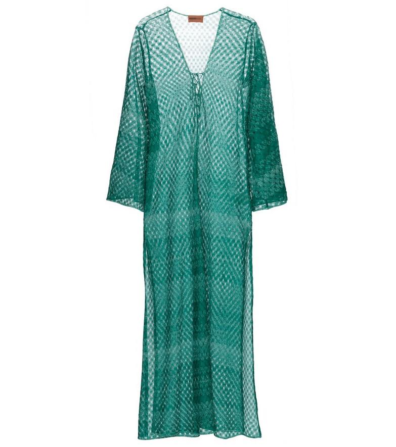 Missoni Mare Knit kaftan in green