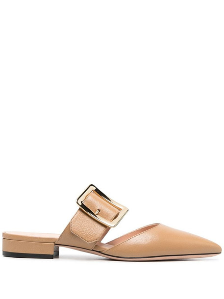 Bally crossover-strap mules in neutrals