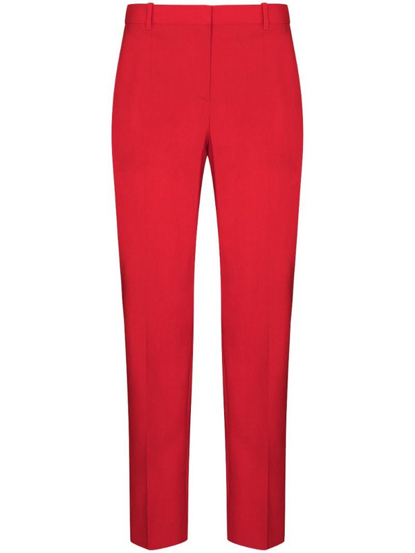 Givenchy concealed fastening tailored trousers in red