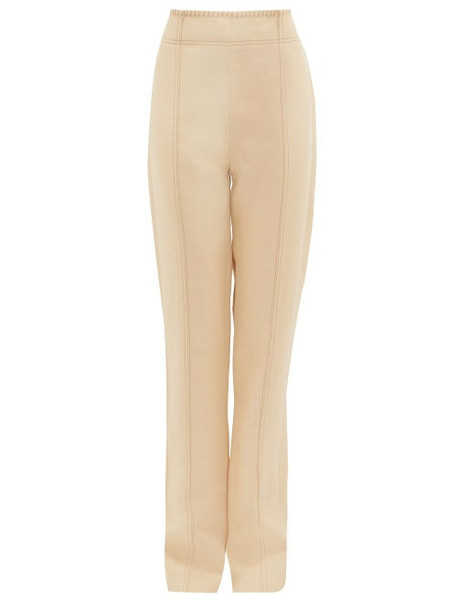 Acne Studios - Whipstitched Flared Trousers - Womens - Cream