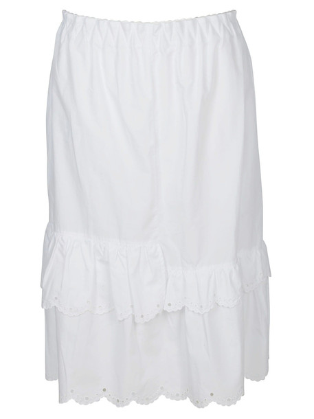 McQ Alexander McQueen Mcq Scalloped Hem Skirt in white
