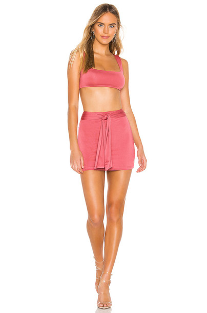 superdown Charlene Tie Skirt Set in pink