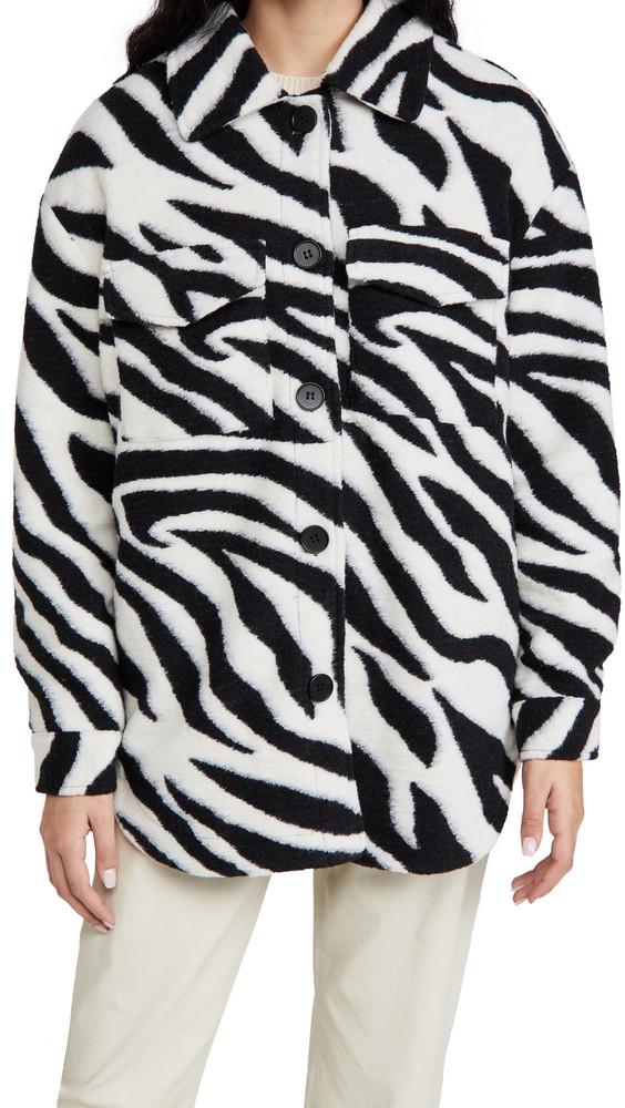 Line & Dot London Zebra Shirt Jacket in black / white