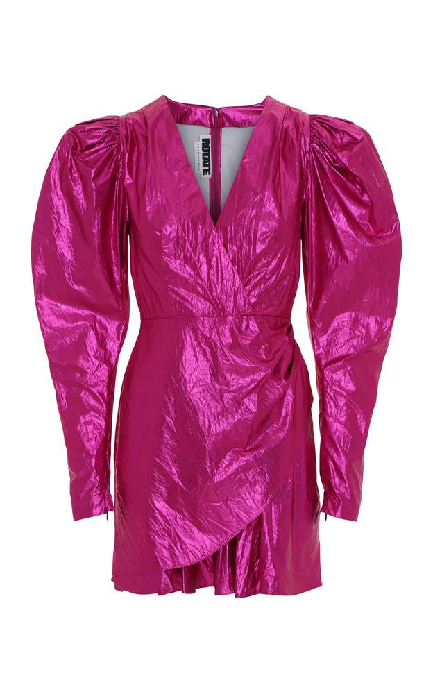 ROTATE Lamé Mini Dress in pink