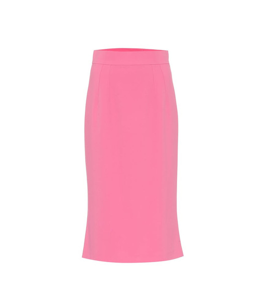 Dolce & Gabbana Cady midi skirt in pink
