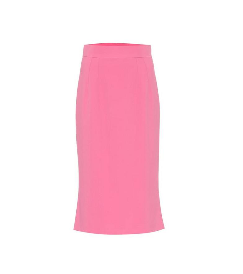 Dolce & Gabbana Cady midi pencil skirt in pink