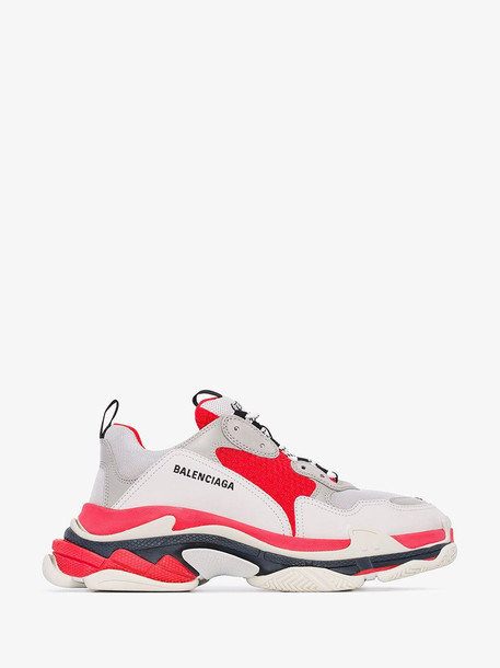 Balenciaga Red Triple S Sneakers