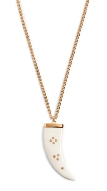 Isabel Marant Sautoir Long Necklace in ecru