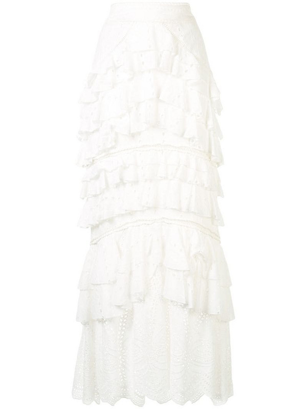 We Are Kindred Lola ruffled maxi skirt in white