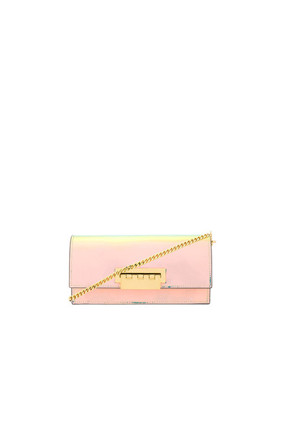 Zac Zac Posen Earthette Flat Crossbody in metallic / silver