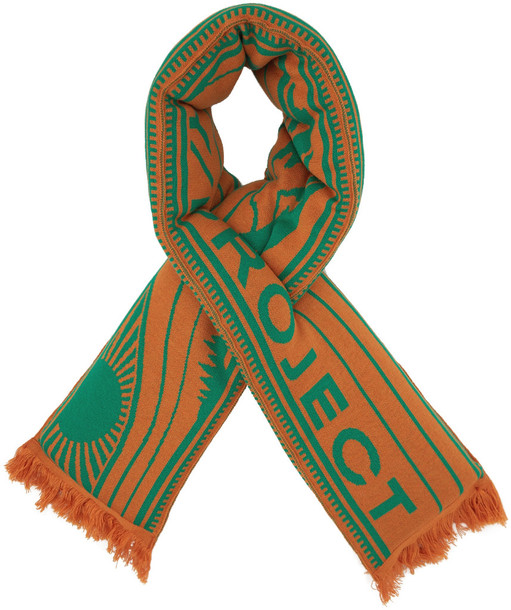 Y/Project Orange & Green Wool Pillow Scarf
