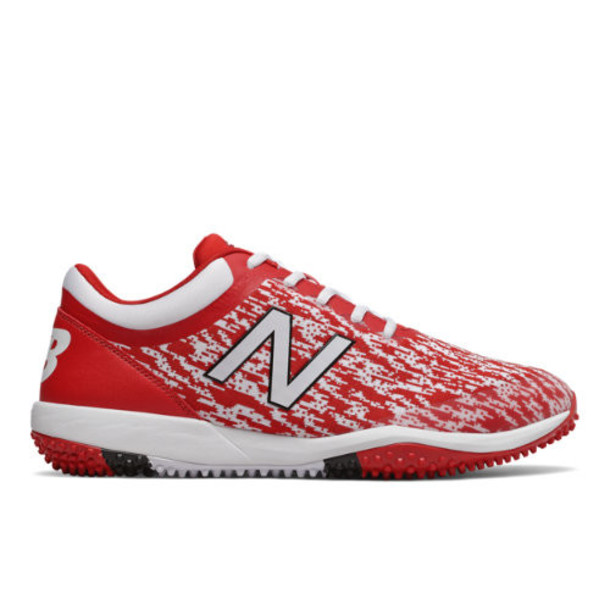 New Balance 4040v5 Turf Men's Cleats and Turf Shoes - Red/White (T4040TR5)