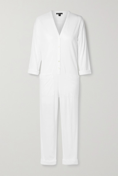 JAMES PERSE - Lotus Cotton-jersey Jumpsuit - White