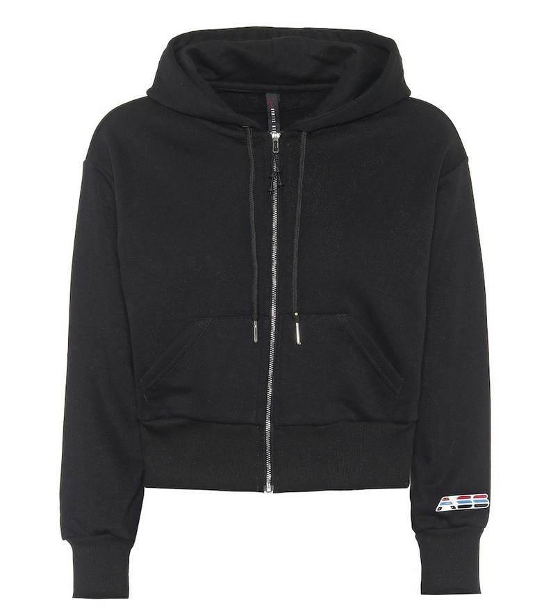 Adam Selman Sport Cotton-blend hoodie in black