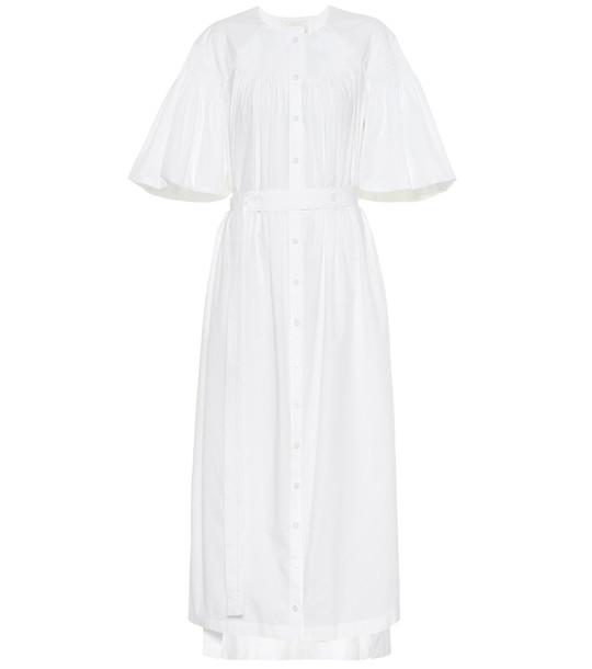 Chloé Cotton midi dress in white