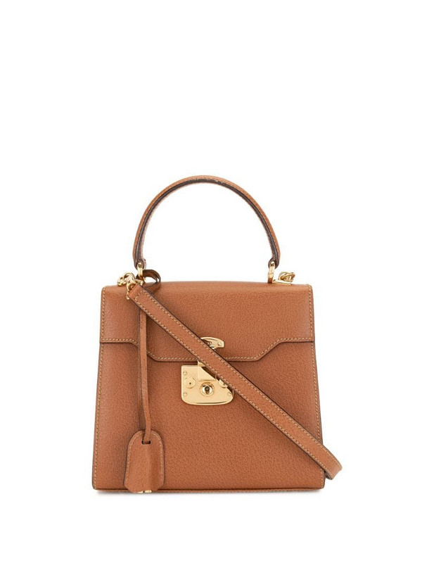 Gucci Pre-Owned Lady Lock two-way bag in brown