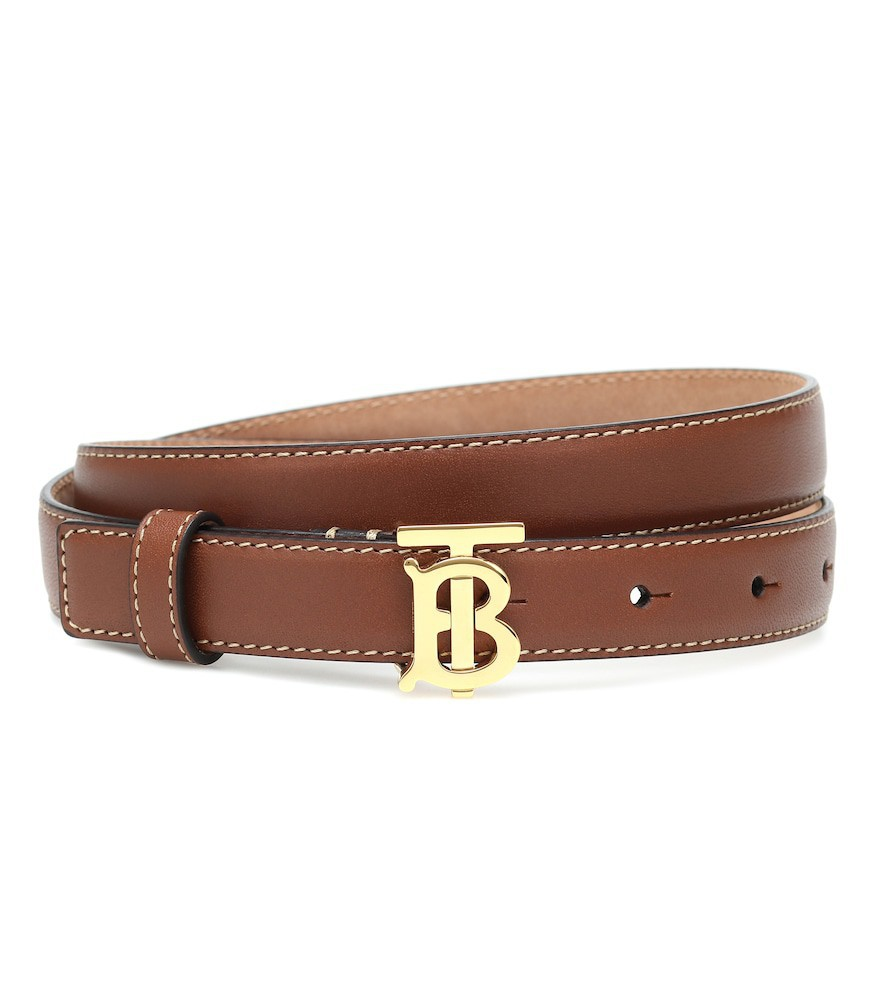 Burberry TB leather belt in brown