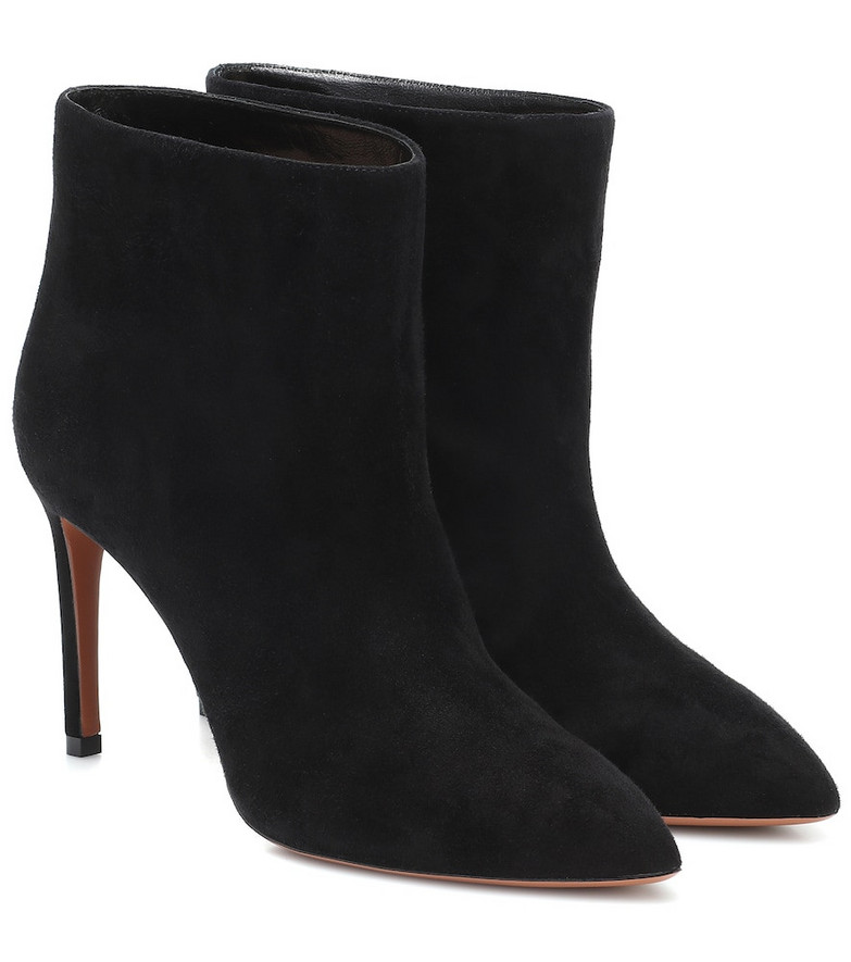 Alaïa Suede ankle boots in black