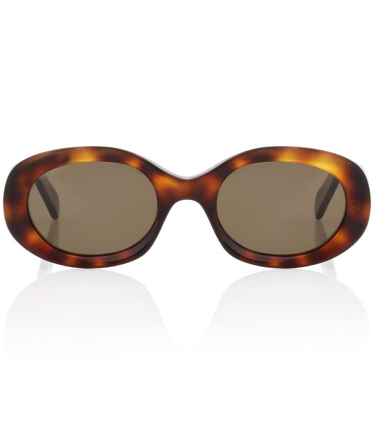 Celine Eyewear Oval acetate sunglasses in brown
