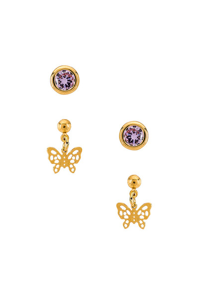 Vanessa Mooney X REVOLVE The Celtic Earring Set in gold / metallic