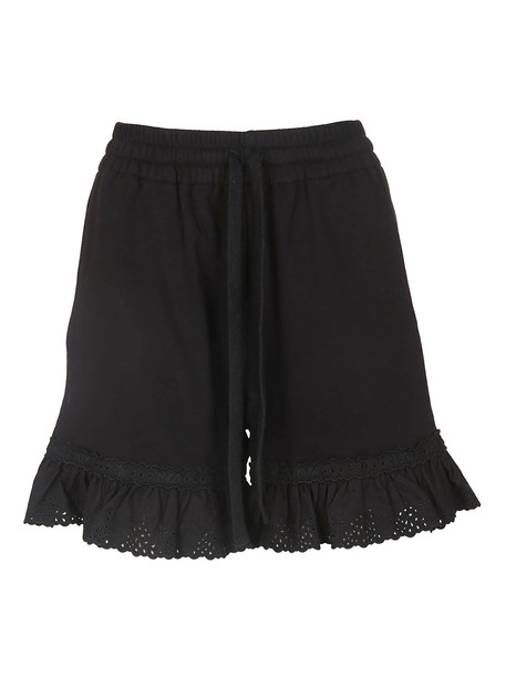 McQ Alexander McQueen Black Cotton Shorts
