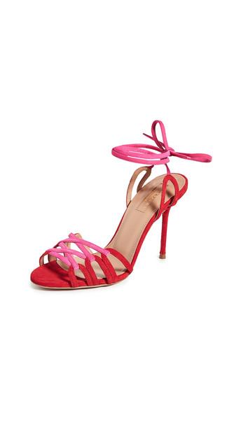 Aquazzura Azur Sandals 95mm in pink