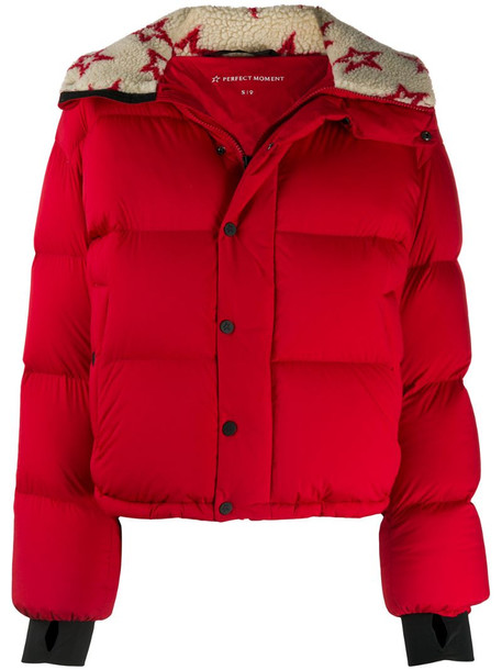 Perfect Moment Jojo down puffer jacket in red