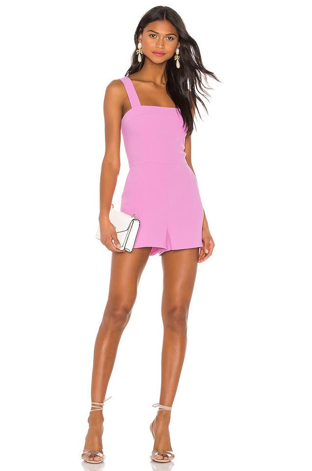 Amanda Uprichard Ace Romper in pink