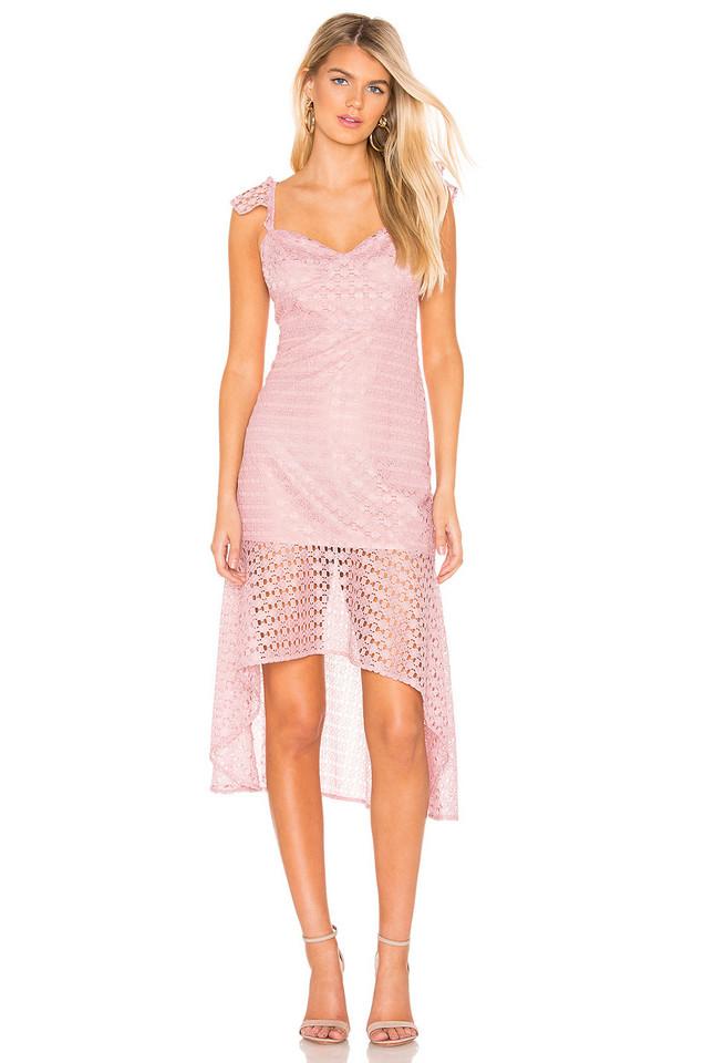 Line & Dot Valentina Dress in rose
