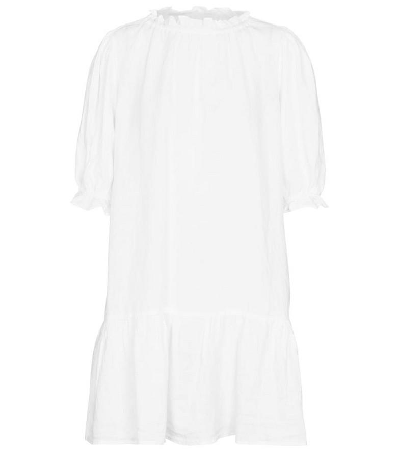 Velvet Bernice linen minidress in white