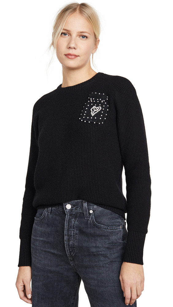 Michaela Buerger Waffle Knit Cashmere Sweater in black