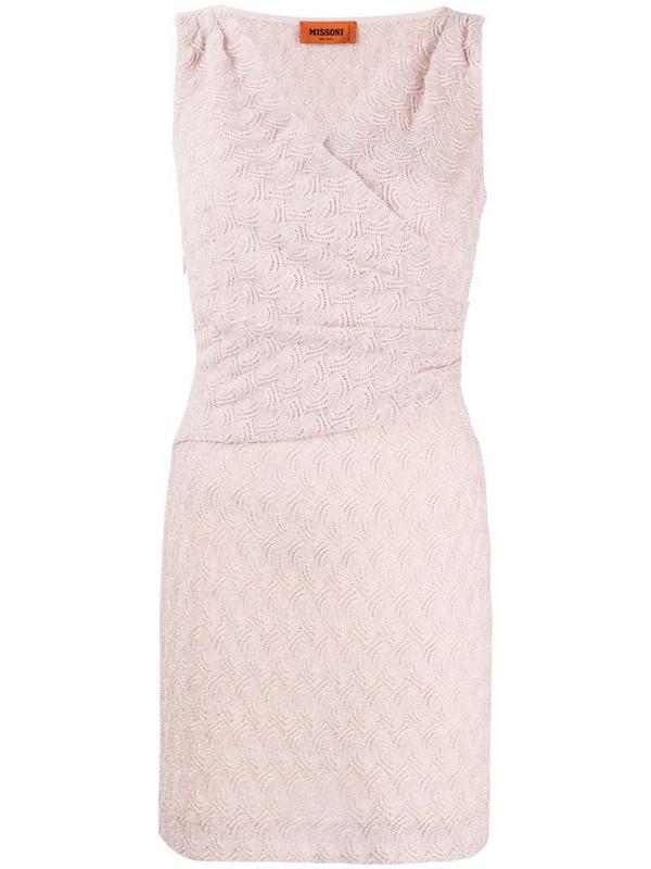 Missoni woven stretch-silk mini dress in pink