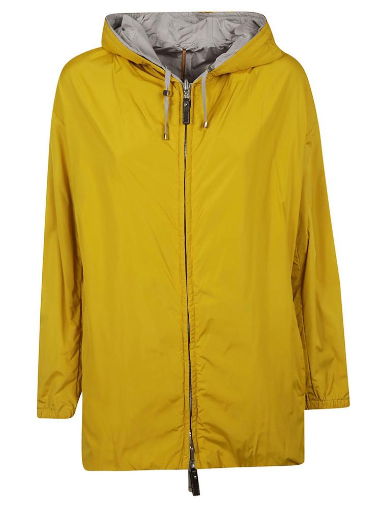 Max Mara Cube Reversible Hooded Jacket in yellow