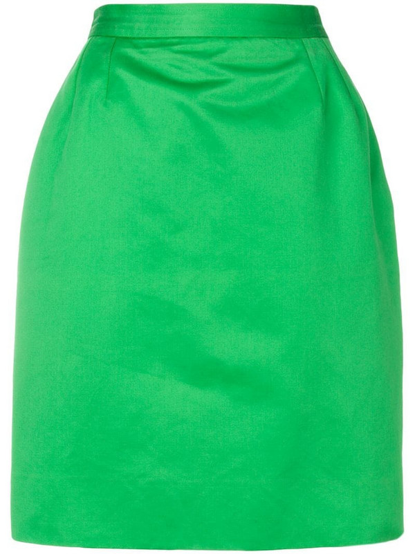 Yves Saint Laurent Pre-Owned high-waisted pencil skirt in green
