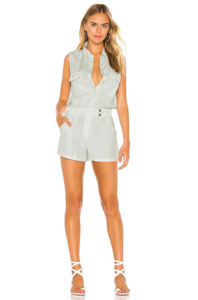YFB CLOTHING x REVOLVE Christine Romper in mint