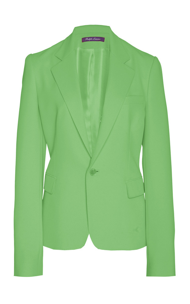 Ralph Lauren Leander Wool Crepe Jacket Size: 0 in green