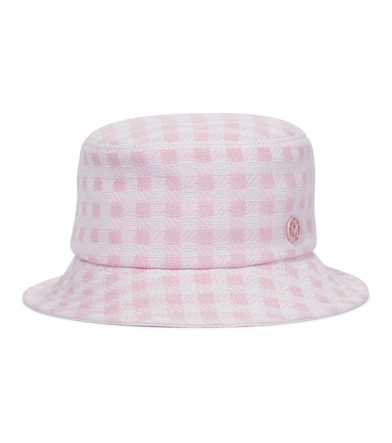 Maison Michel Jason gingham bucket hat in pink
