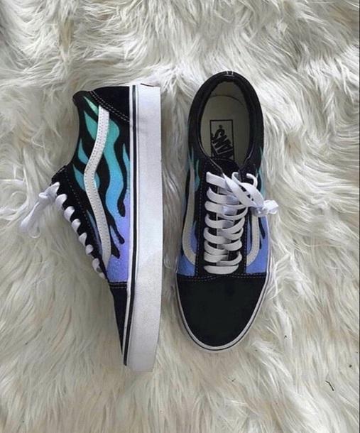 shoes, custom vans, custom, vans, old