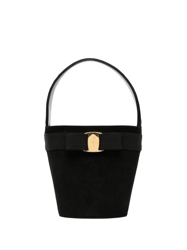 Salvatore Ferragamo Pre-Owned Vara Bow tote bag in black