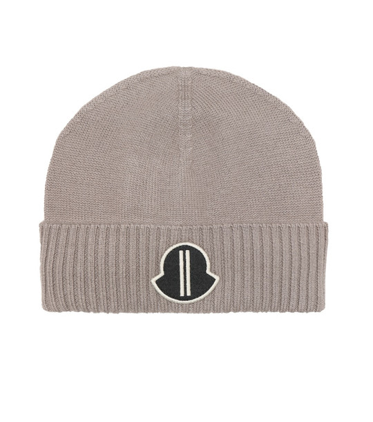 Rick Owens x Moncler cashmere beanie in grey
