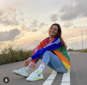 jacket,multicolorjacket,rainbow,colorful,adidas,adidas jacket,multicolor